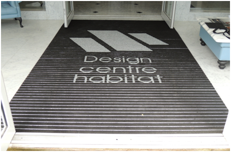 Logo mat at the Design Centre Habitat