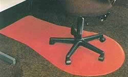 very hardwearing and economical moulded rubber desk chair mat with