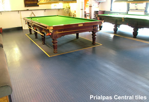 Prialpas Central round studded rubber tiles